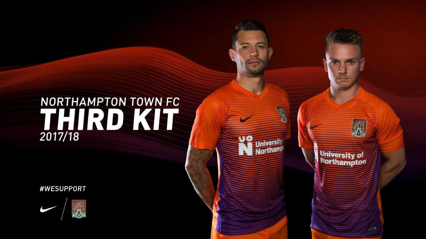 c67a7ce1097 REVEALED - THE NEW NORTHAMPTON TOWN THIRD KIT. ON SALE NOW! - News ...